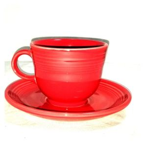 Fiesta Cup and Saucer Red
